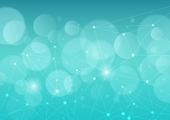 Abstracte achtergrond met verbindingslijnen en punten vector