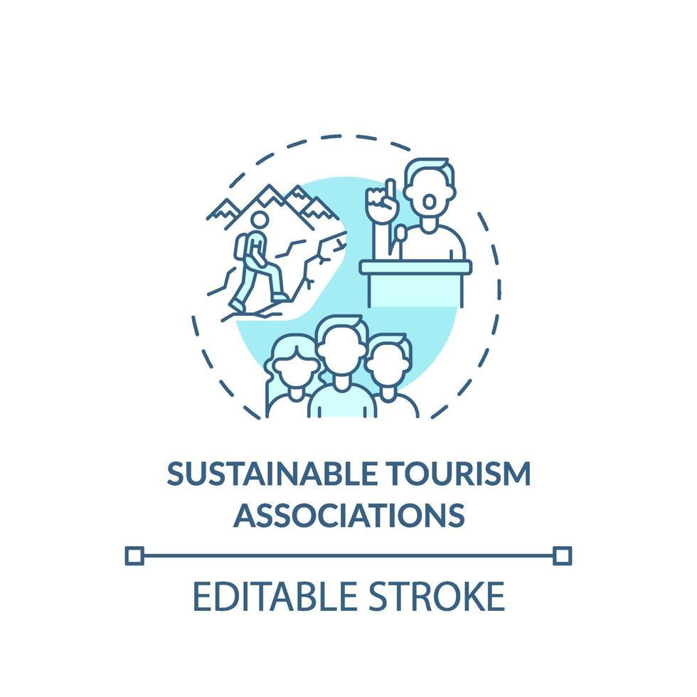 duurzaam toerisme verenigingen concept pictogram vector