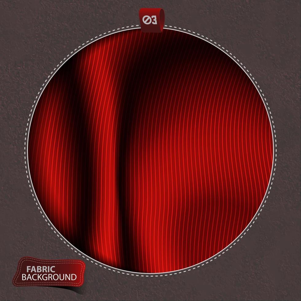 rode stof kleren vlotte achtergrond vector