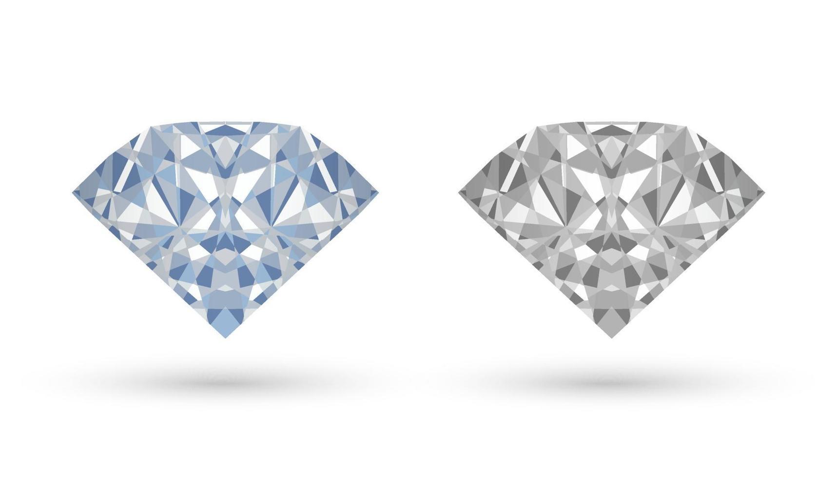 echte diamantvector op een witte achtergrond vector