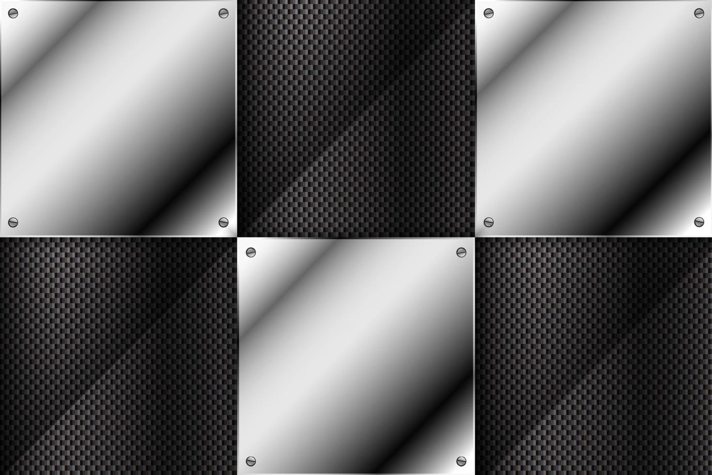 metalen achtergrond met koolstofvezel textuur. vector