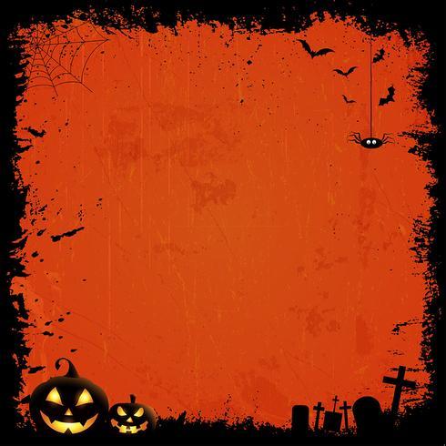 Grunge halloween achtergrond vector