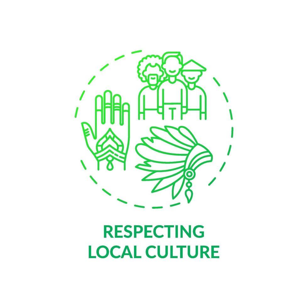 respect voor het pictogram van het concept van de lokale cultuur vector