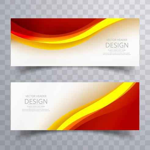 Abstracte kleurrijke banner sjabloon vectorillustratie vector