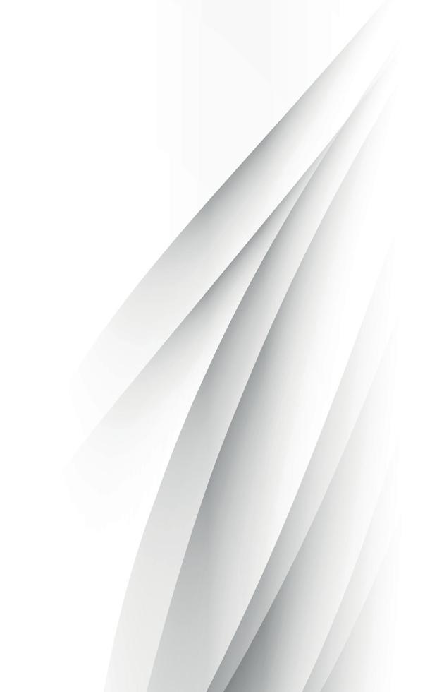 witte vector achtergrond met golvende lijnen en punten