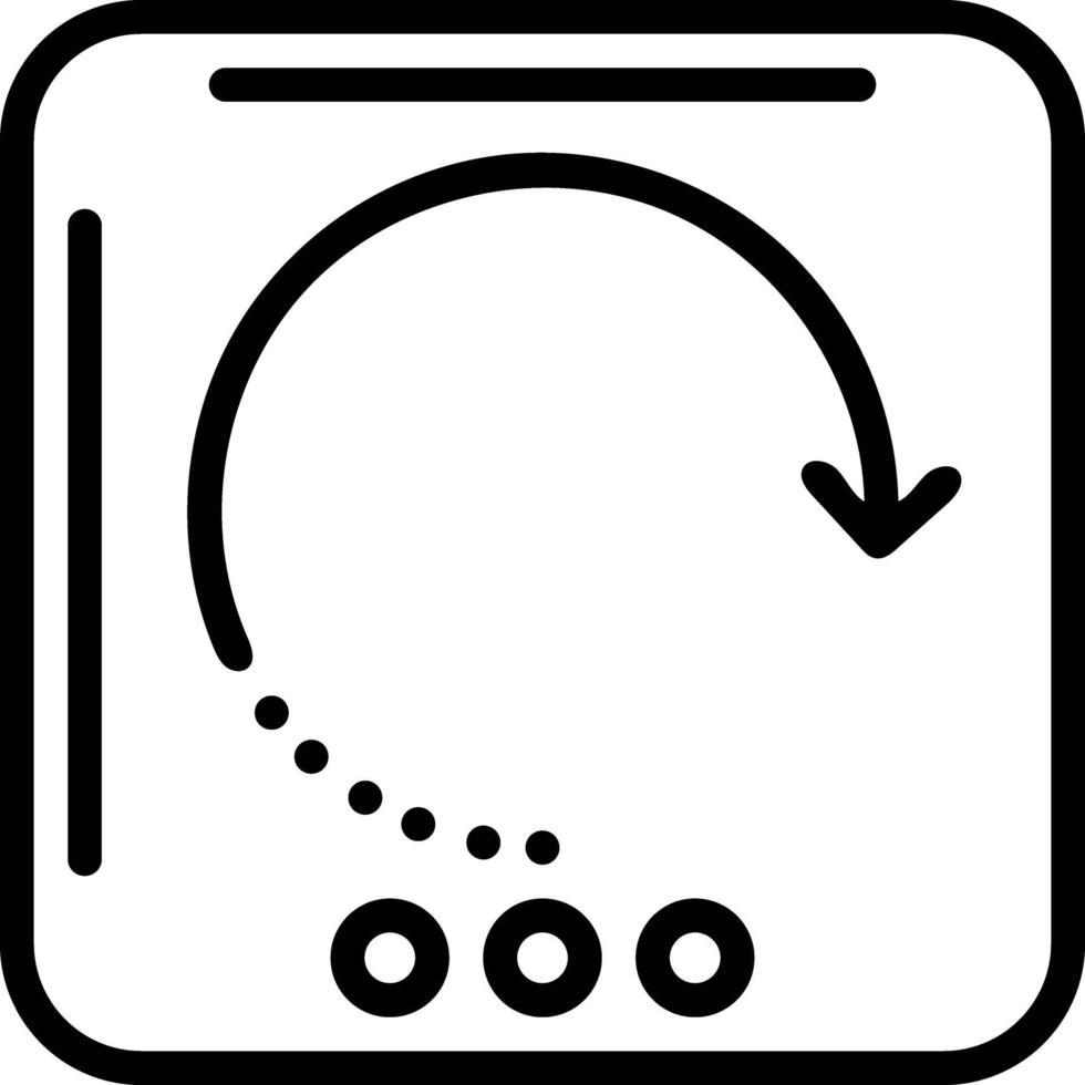 lijnpictogram voor herladen vector