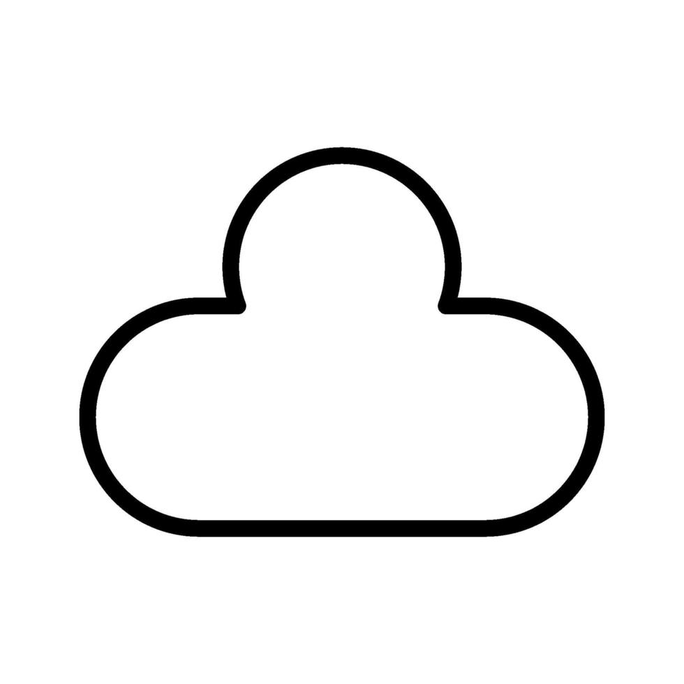 wolk vector pictogram