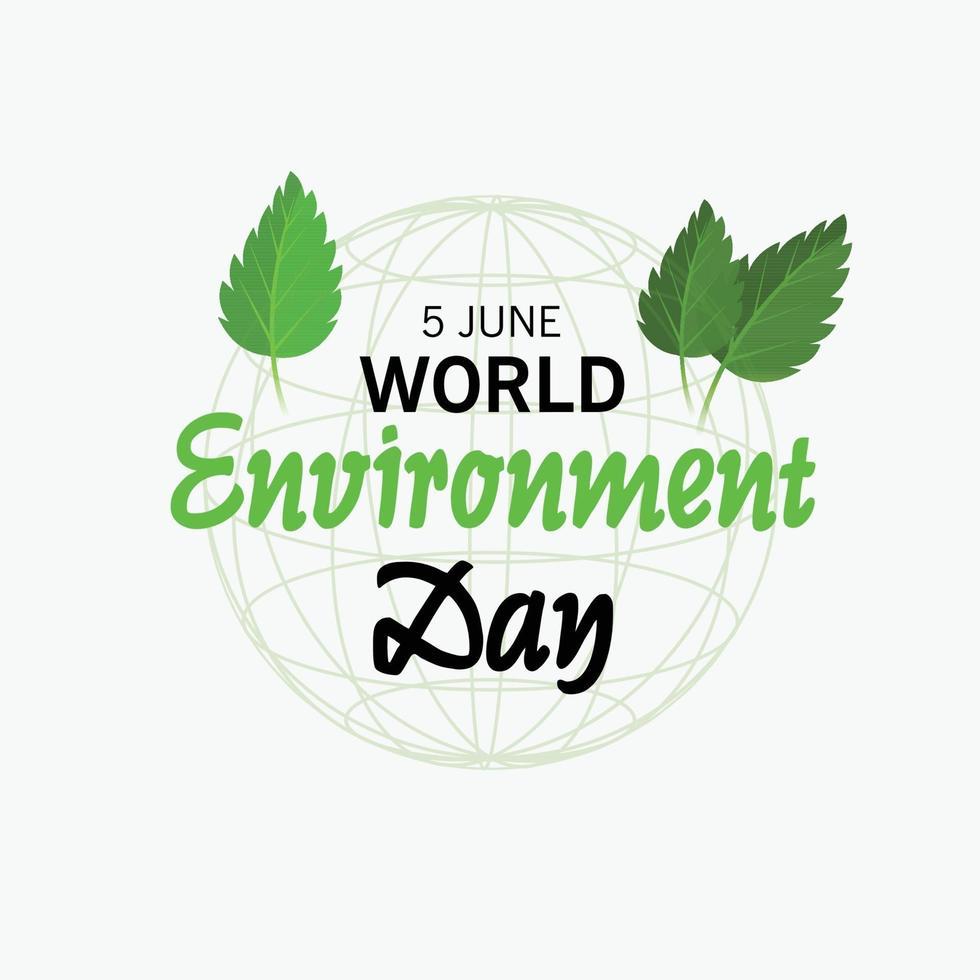 vectorillustratie voor wereldmilieudag. vector