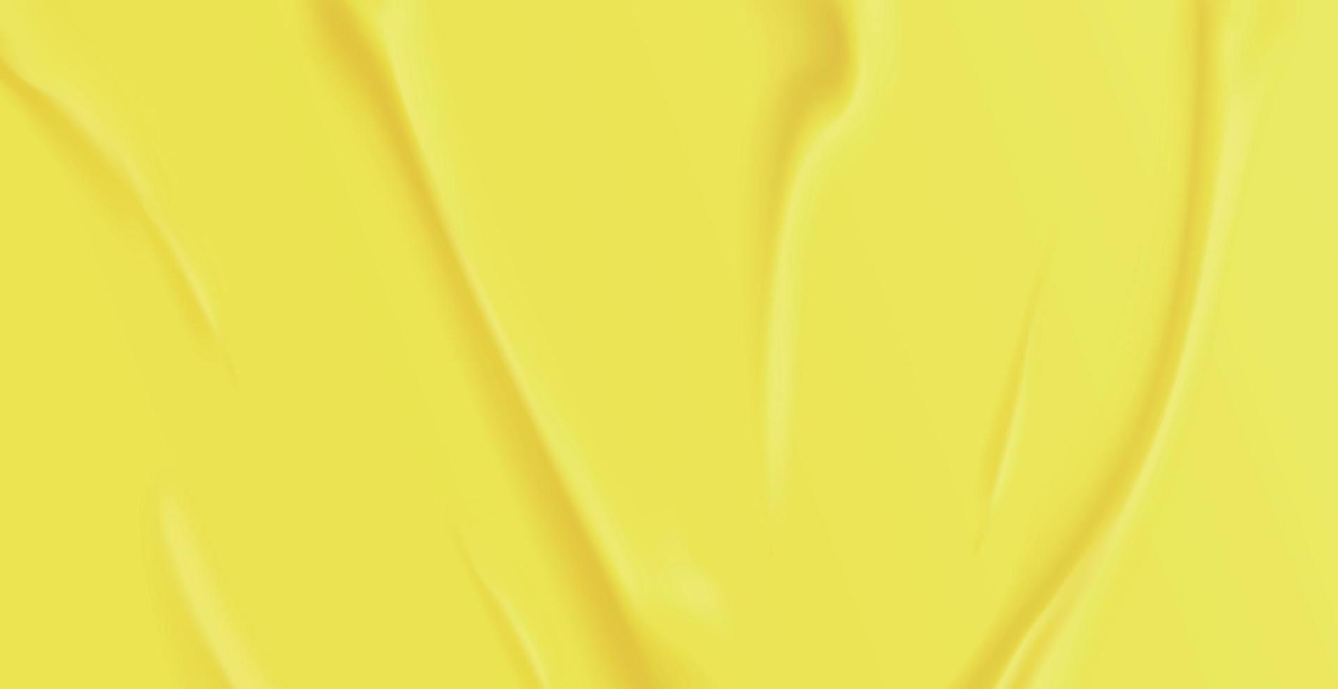 realistische verfrommelde gele achtergrondstructuur, plooien - vector