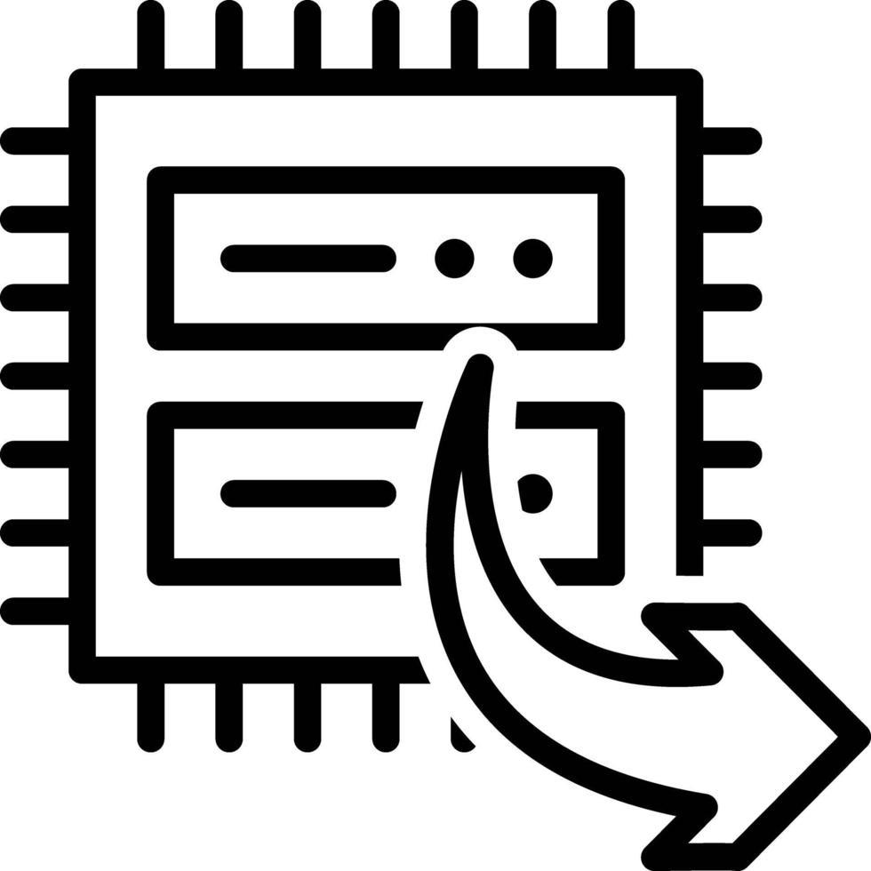 lijnpictogram voor export vector