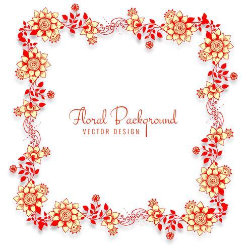 Mooie decoratieve huwelijksframe bloemenachtergrond vector