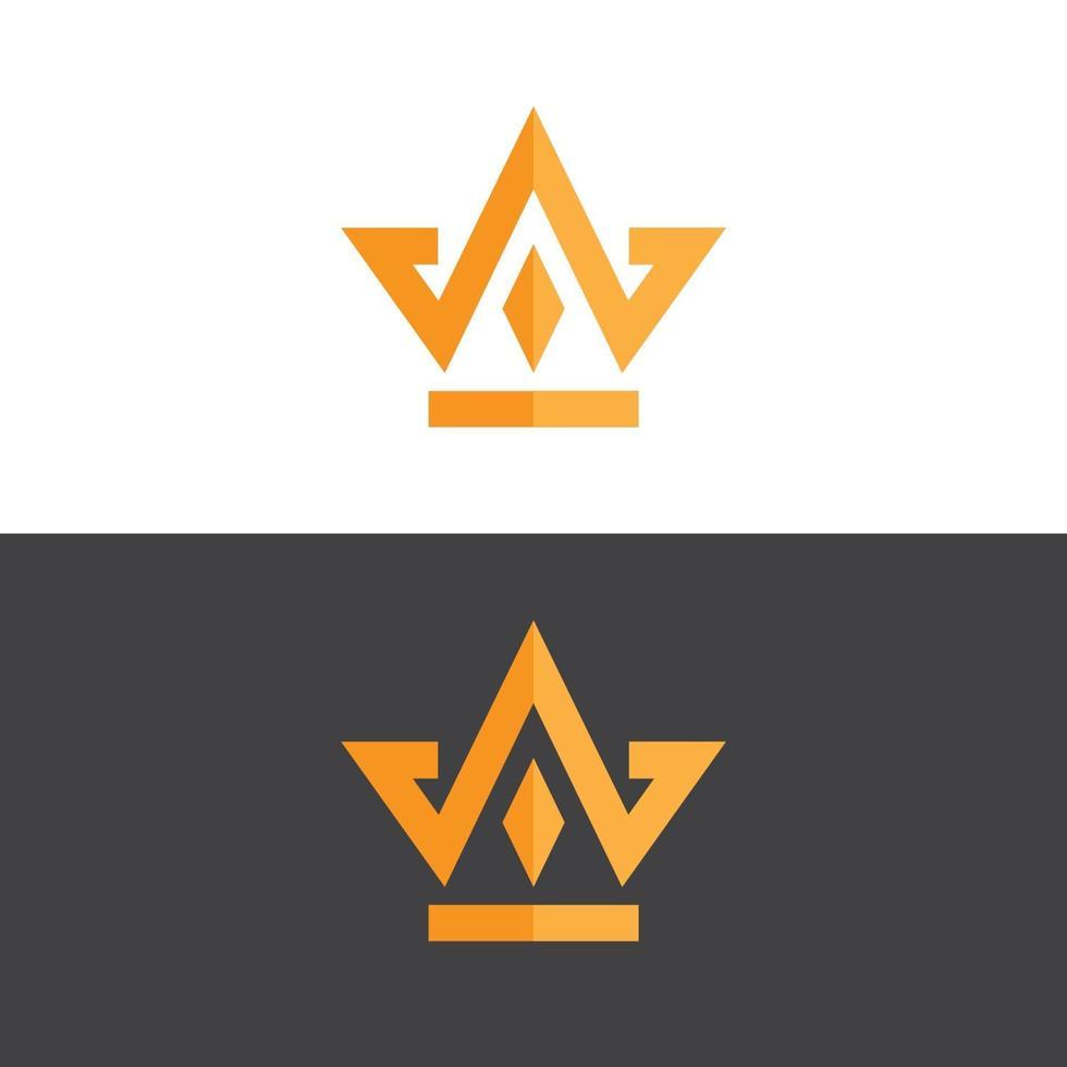 elegant kroonembleem in gouden vectorbeeld vector