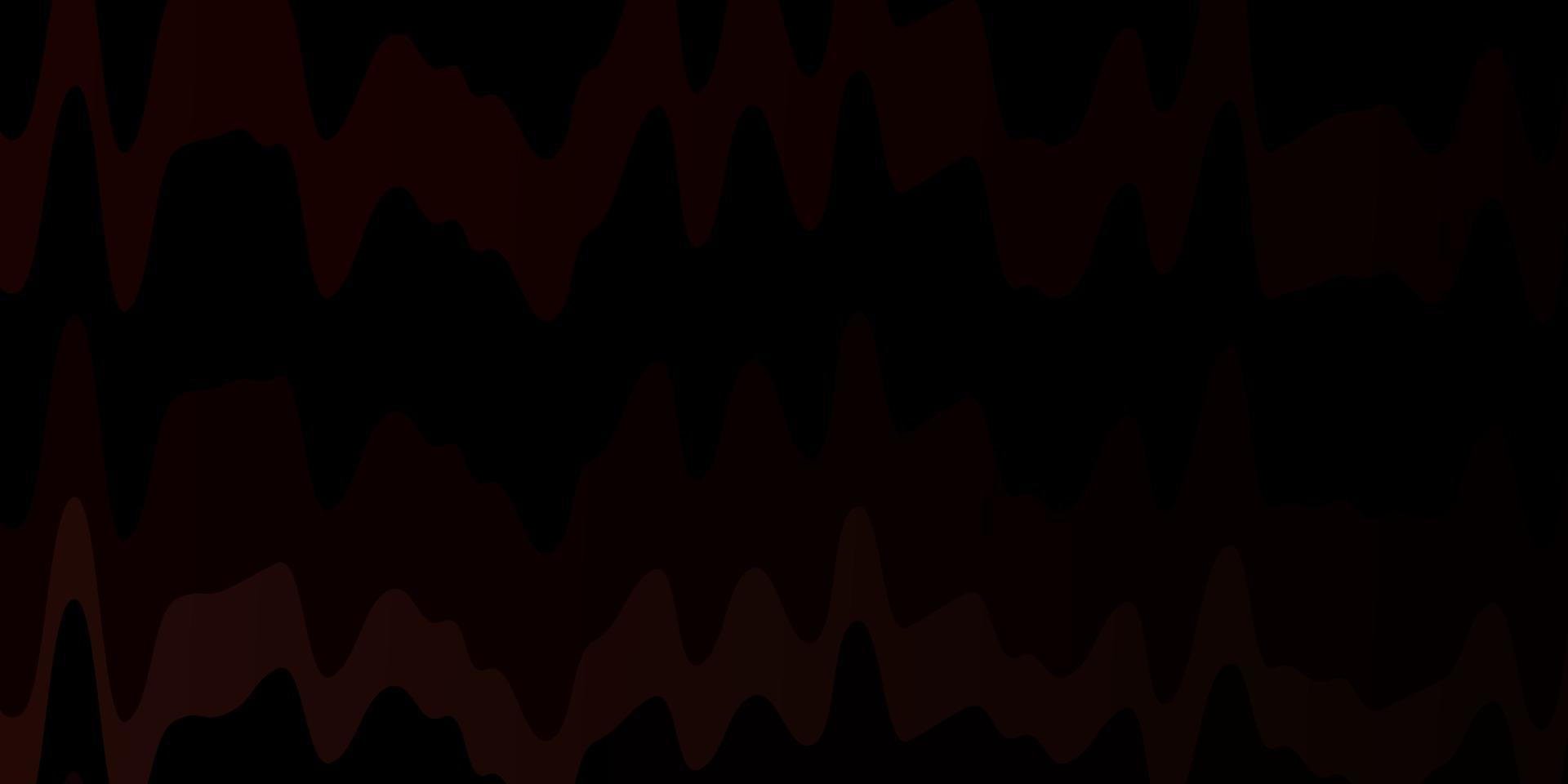 donkerroze, rode vectorachtergrond met wrange lijnen. vector