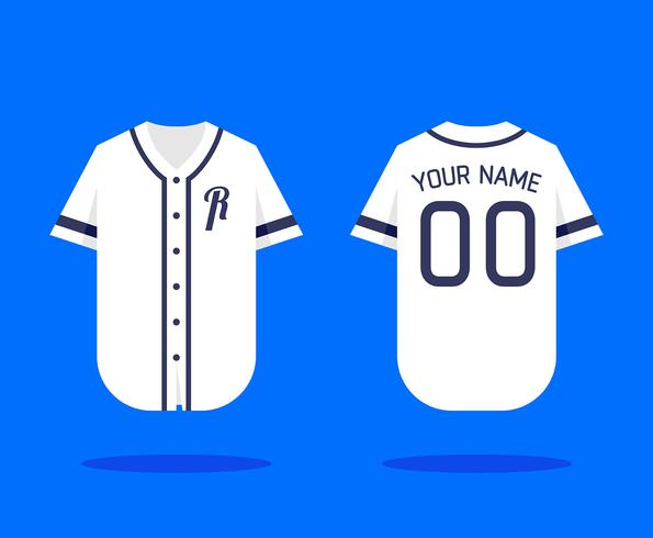 mockup van baseball jersey vector