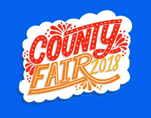County Fair belettering vector