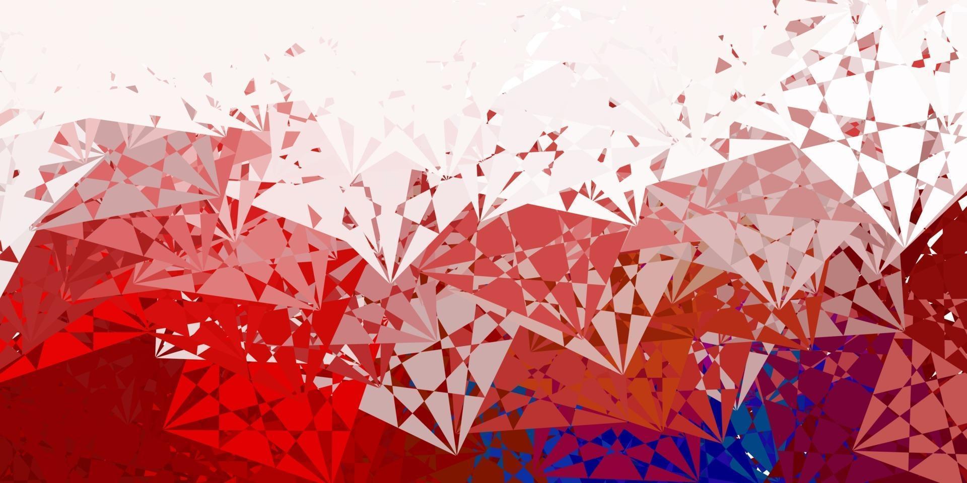 lichtblauwe, rode vectorachtergrond met driehoeken. vector