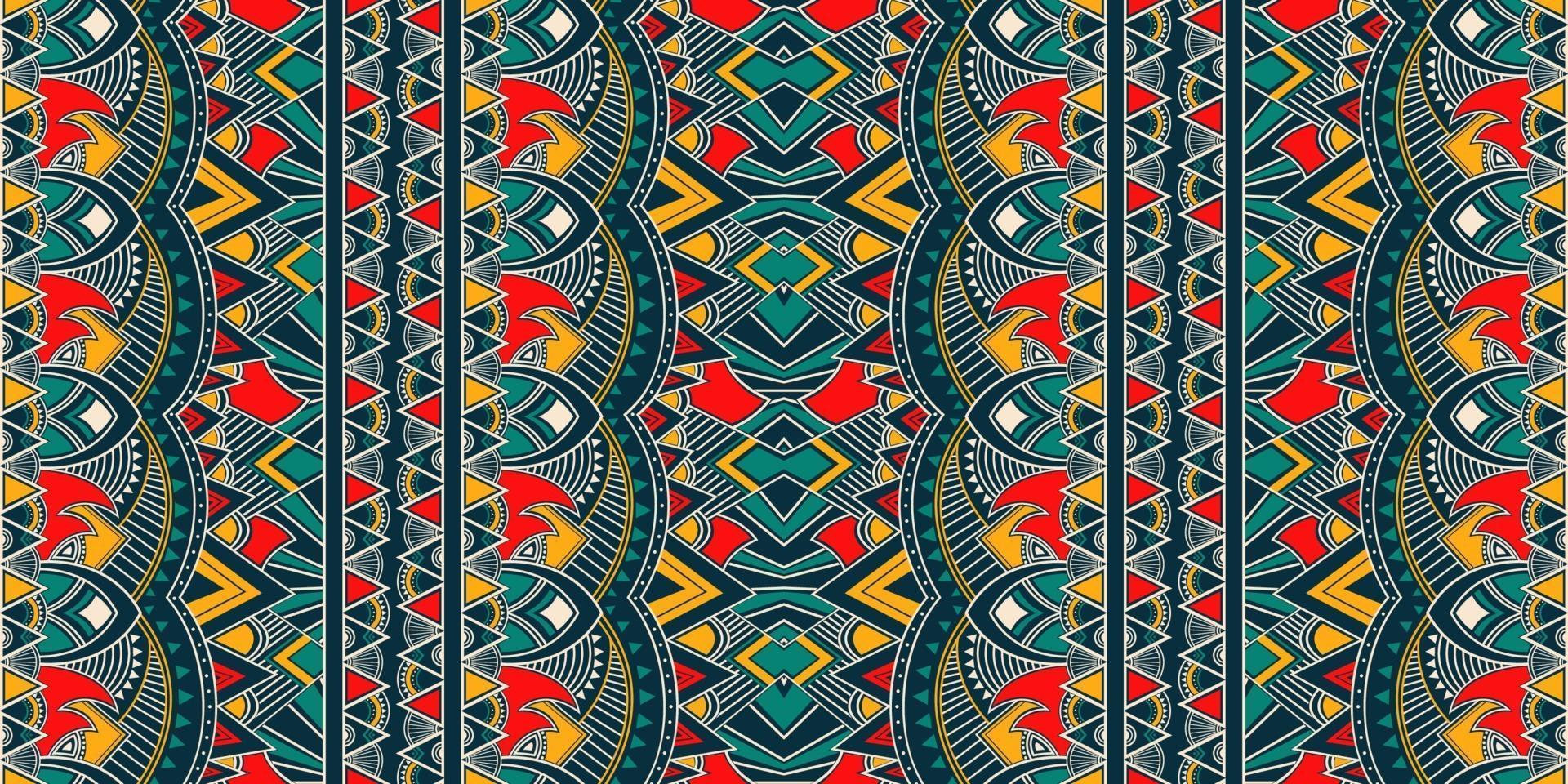 ikat geometrische folklore ornament. tribale etnische vector textuur. naadloos gestreept patroon in Azteekse stijl. figuur tribal borduurwerk. indisch, scandinavisch, zigeuner, mexicaans, volkspatroon.