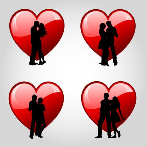 Paren en harten vector