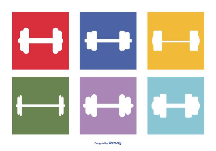 dumbell icon collectie vector