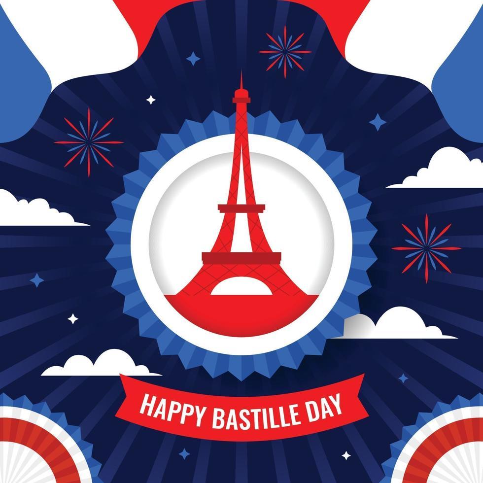 gelukkige bastille dag achtergrond concept vector