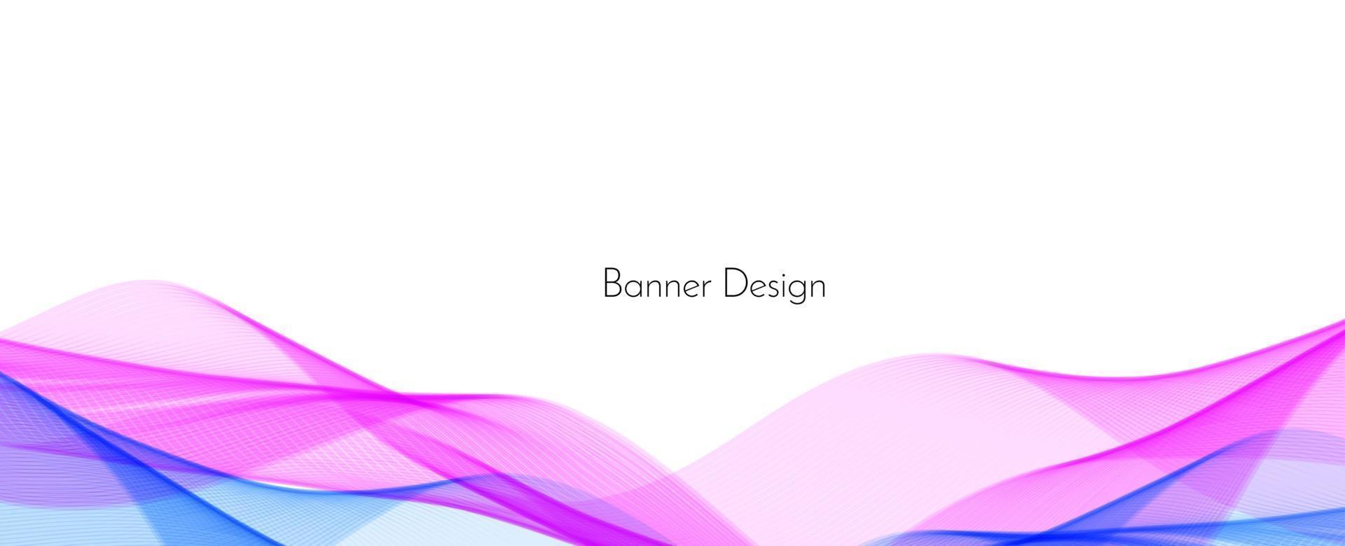 abstracte kleurrijke decoratieve stijlvolle moderne golf ontwerp banner achtergrond vector