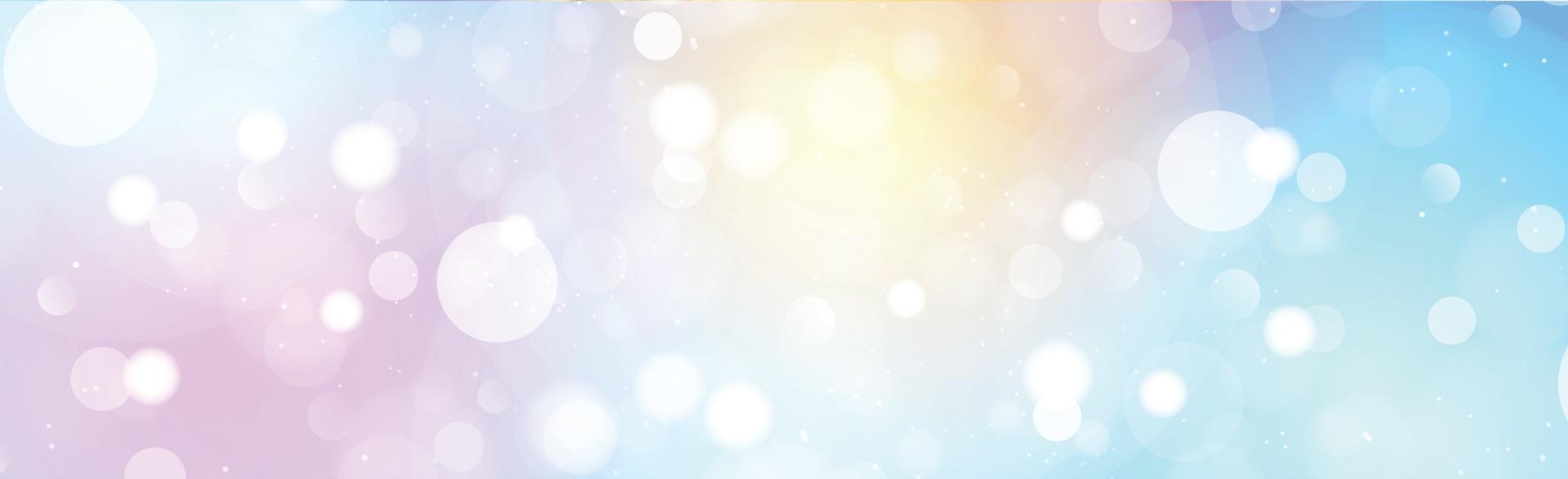 veelkleurige wazig bokeh op panorama achtergrond vector
