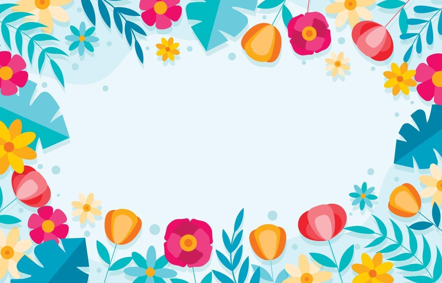 platte bloem achtergrond vector