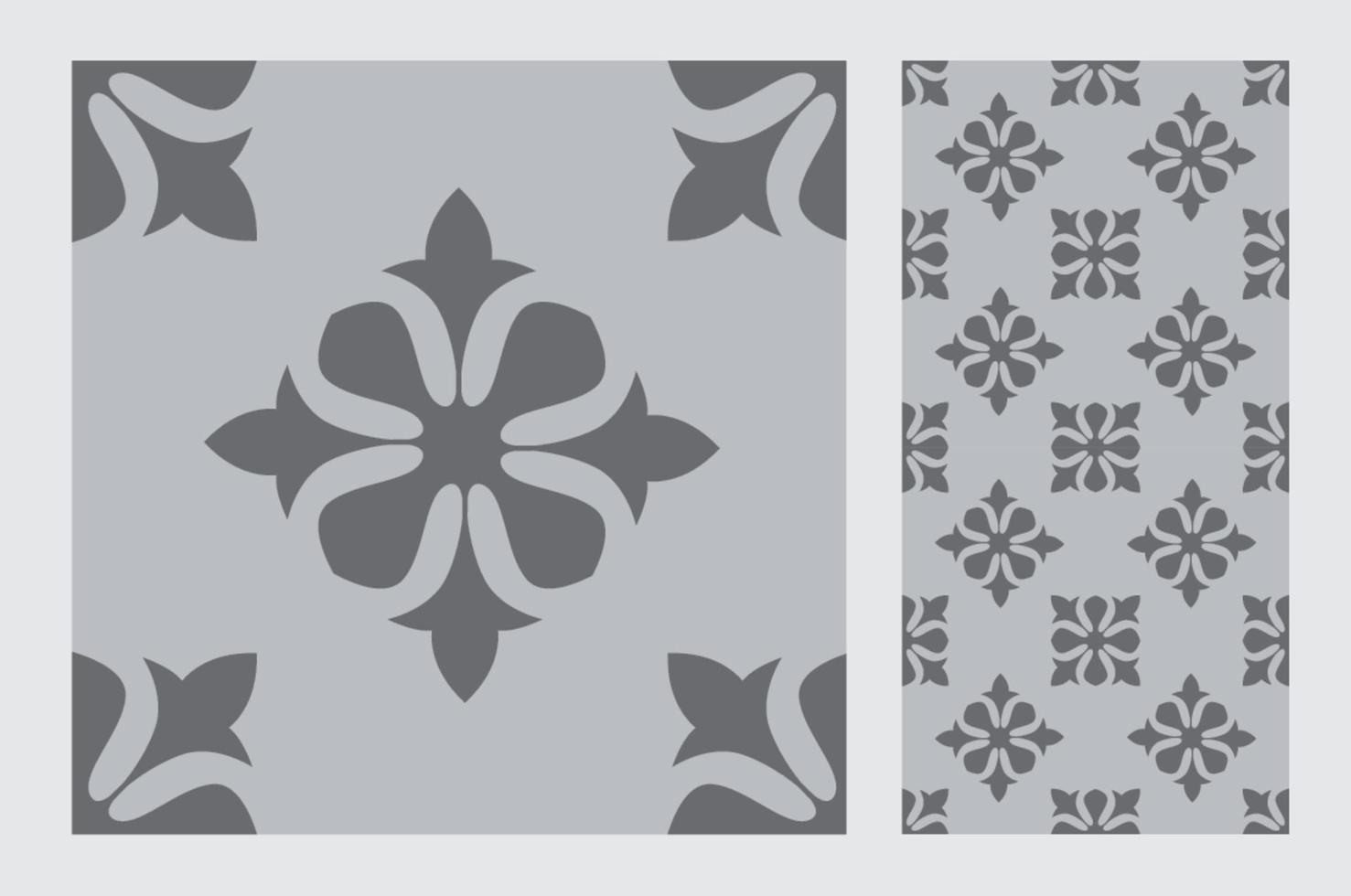 vintage tegels patronen antiek naadloos ontwerp in vectorillustratie vector