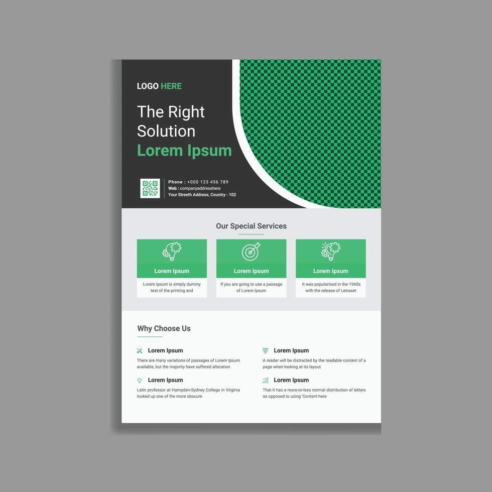 unieke creatieve zakelijke promotionele folder flyer sjabloonontwerp vector