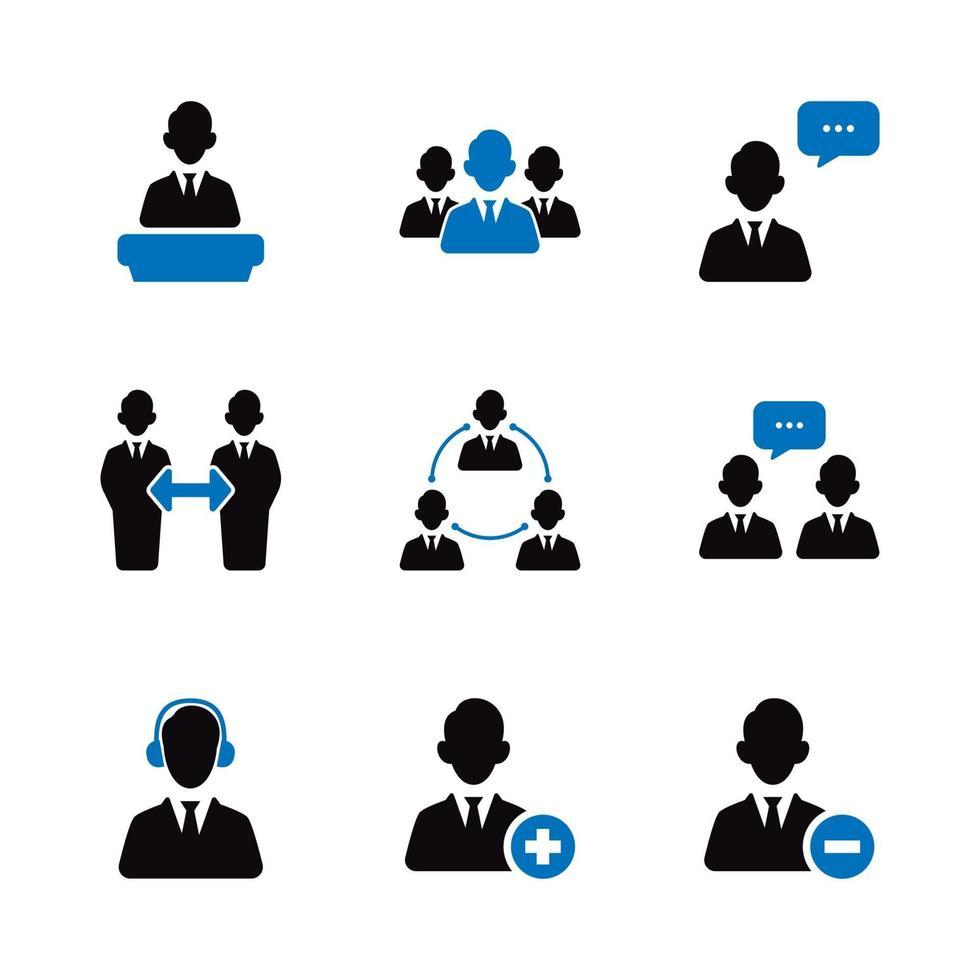 zakenmensen pictogramserie vector