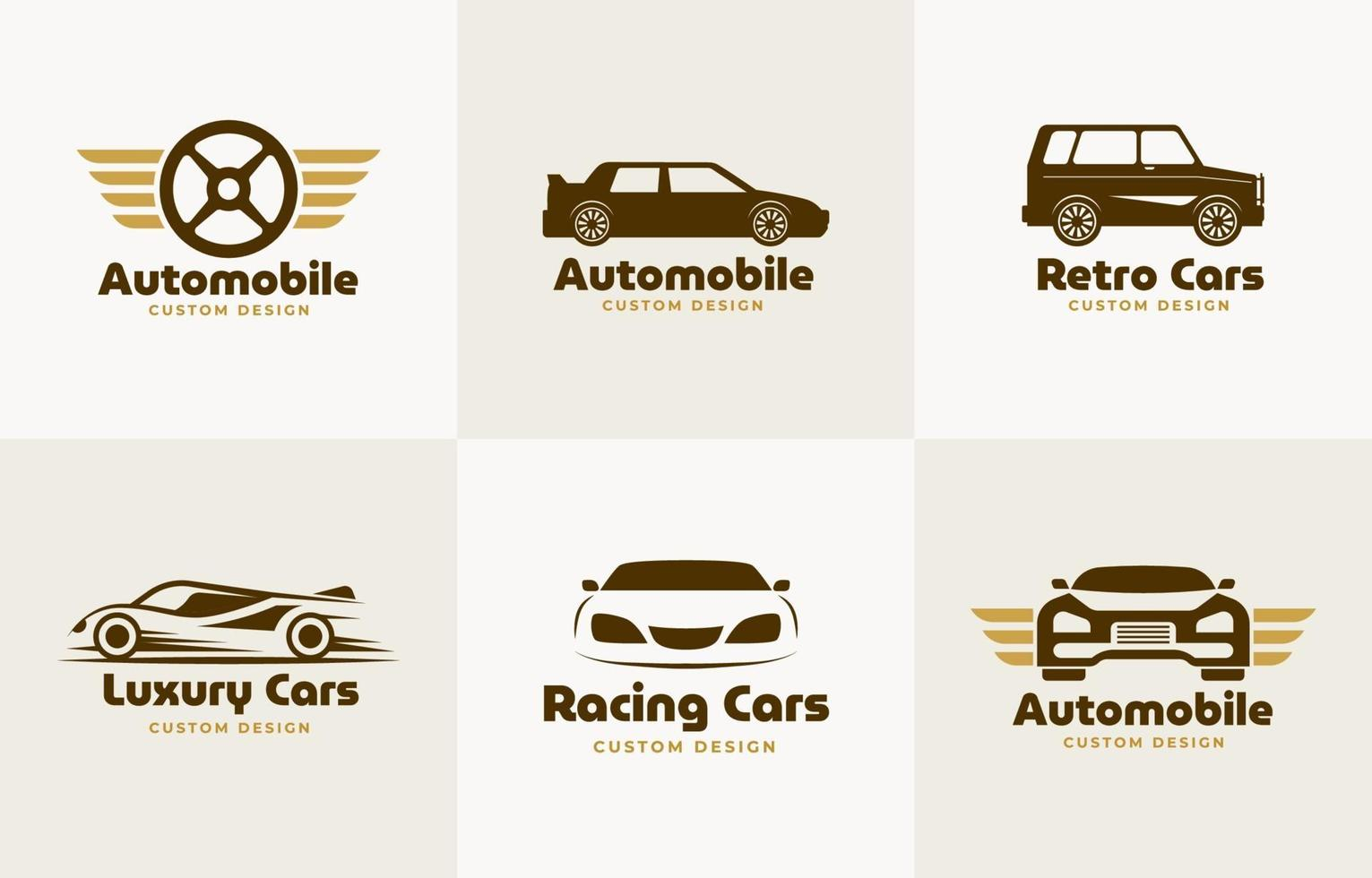 auto- of auto-logo-collectie vector