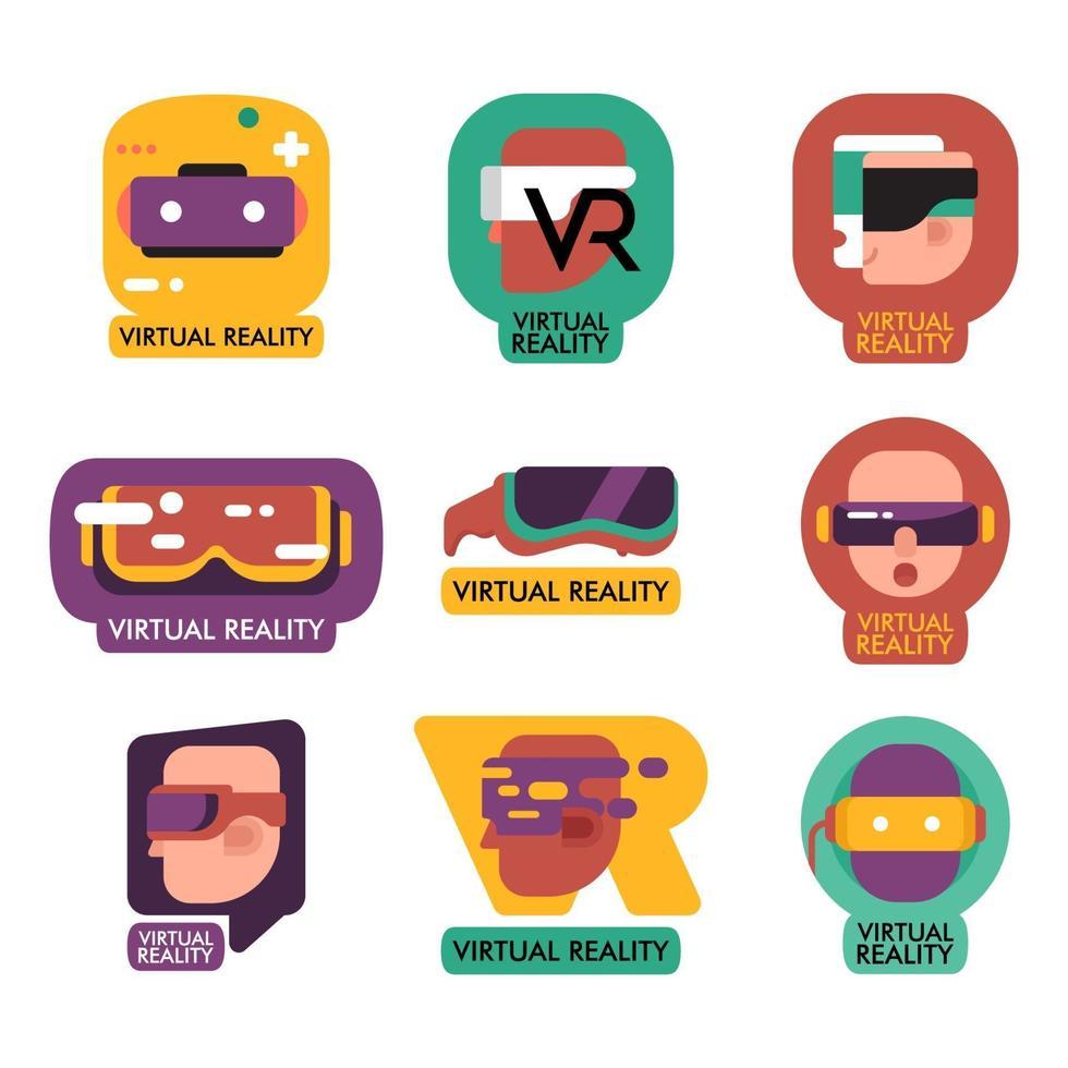 vr logo collectie vector