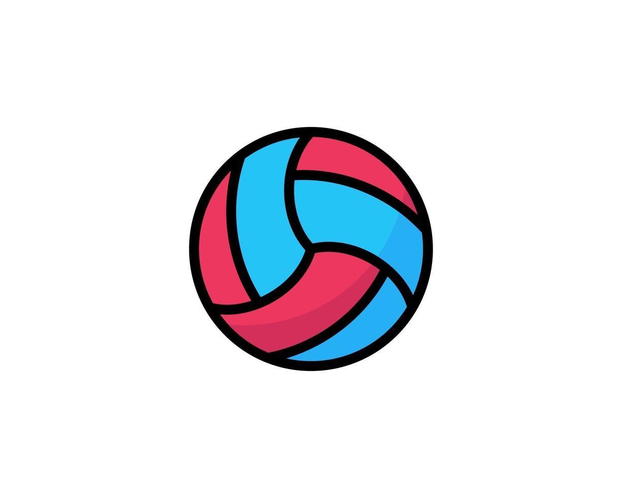 valleyball overzicht ui web pictogram. valleyball vector pictogram voor web, mobiel en gebruikersinterfaceontwerp geïsoleerd op een witte achtergrond