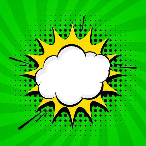 Abstracte groene komische achtergrondontwerpvector vector