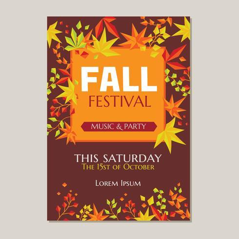 Herfst Festival of herfst partij poster sjabloon vector
