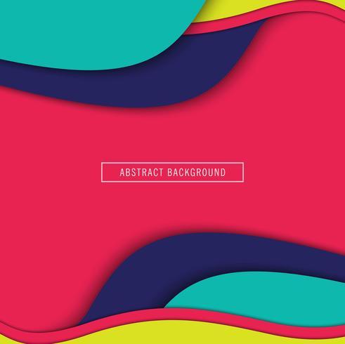 Prachtige kleurrijke papier gesneden achtergrond vector