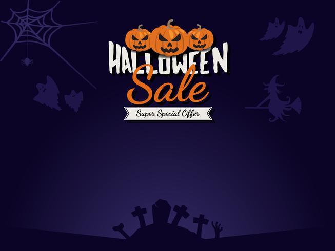 Halloween verkoop achtergrond vector