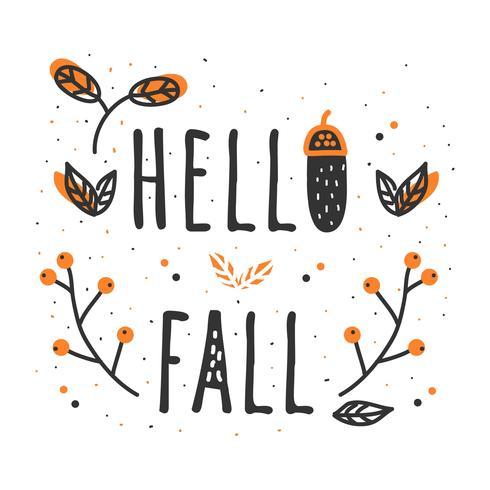 Hallo herfst vector