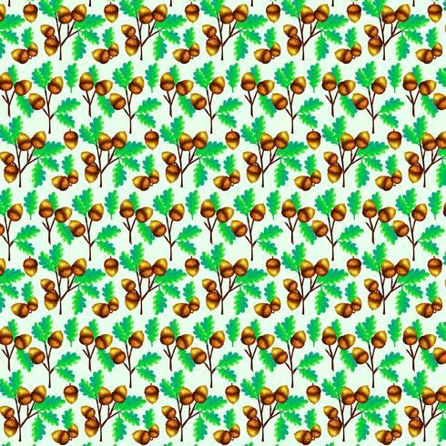 Vector eikels naadloze patroon