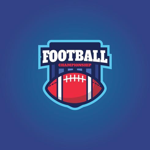 Amerikaans voetbal vector embleem