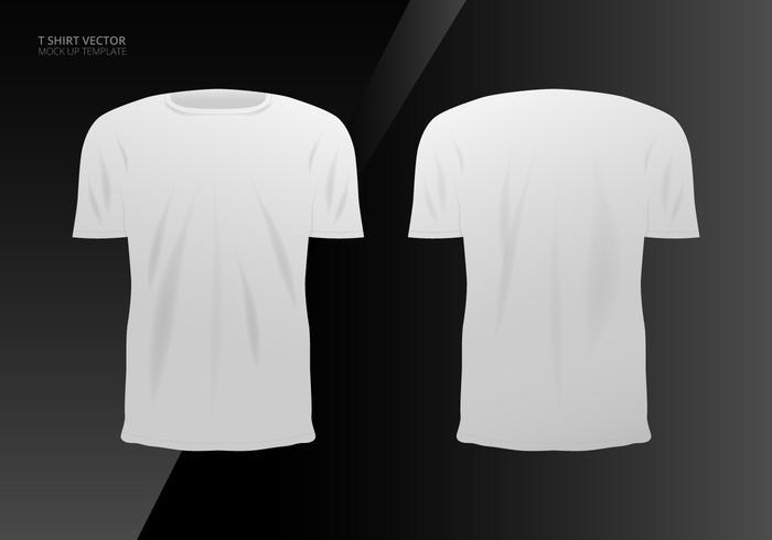 Realistische T-shirt Mock Up sjabloon vector