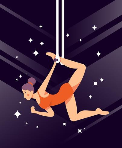 Trapeze Artist Illustratie vector
