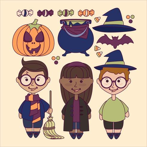 Vector Leuke Halloween-elementen