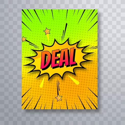 Van het de overeenkomstenmalplaatje van het pop-art kleurrijke grappige boek de brochurevector illust vector
