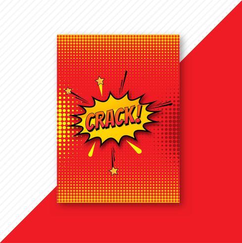 Popart kleurrijke komische brochure sjabloonontwerp vector