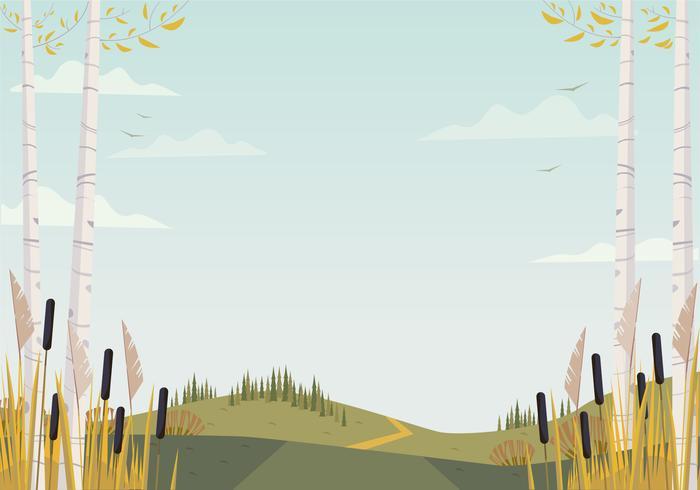 Vector prachtige landschap illustratie