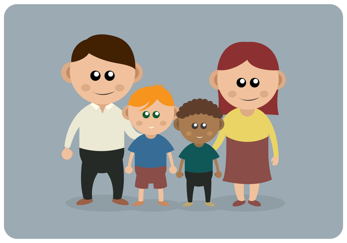 Internationale adoptiebewustmakingsfamilie vector