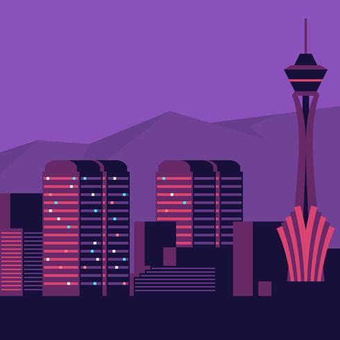 Las Vegas Skyline vectorillustratie vector
