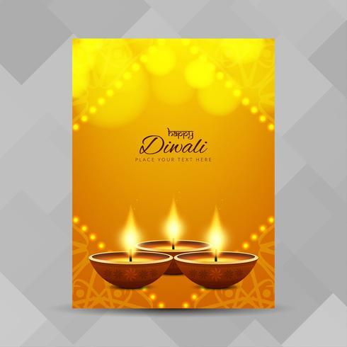 Abstracte Happy Diwali religieuze brochure ontwerpsjabloon vector