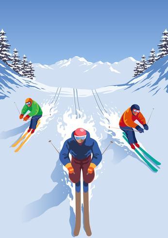 Skiër Extreme sporten vector
